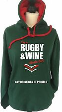 Leicester Tigers Hoodie  Rugby & Wine, or Any Drink