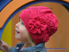 Knitting Pattern - Flower Spirits Hat (Toddler, Child and Adult sizes)