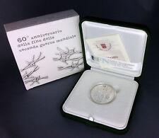 VATICAN - 5 EURO ARGENT 2005 - 60 ANS DE LA FIN DE LA SECONDE GUERRE MONDIALE