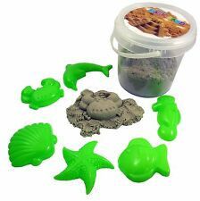 Magic Sand 500g With 3 Castle Moulds-Sculpture, Mould and Play (BT251) SAND