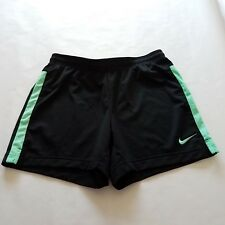 Nike Dri-Fit Academy Mesh Soccer Running Shorts Black Green Size Small