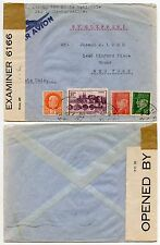 FRANCE WW2 INTERCEPTED by CENSOR BERMUDA...CLIPPER MAIL 1942 to BRONX NY 6166 IC