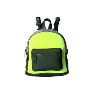 Steve Madden Tanya Convertible Mini Backpack Yellow Leopard Python Print $78