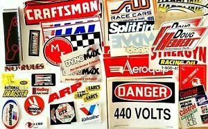 Huge Lot of Racing Body Window Bumper Stickers - Craftsman Valvoline Earls