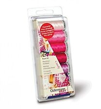 GUTERMANN RAYON 40 CANDY MACHINE THREAD EMBROIDERY SEWING 7 REEL SET PINK/PURPLE