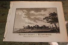 C.1790 impression de netley abbey, hampshire