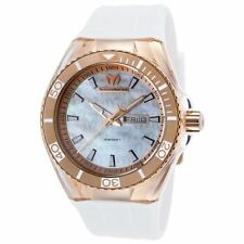 TechnoMarinE Cruise TM 115063 ROSE GOLD + white band cover UNISEX case 45MM NEW