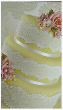 4 x Cake Lace Panels Edible Cake Cupcake Decoration Wedding Cake Engagement