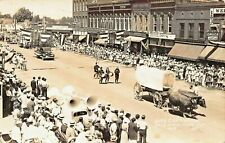 HOLLY MICHIGAN~CENTENNIAL CELEBRATION-STOREFRONTS-JULY 1938 REAL PHOTO POSTCARD