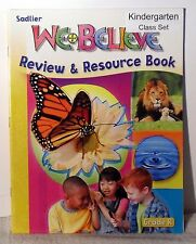 Sadlier We Believe Review & Resource Book Grade K --Free shipping.