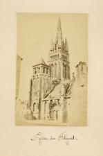 Brest, Pepin, Eglise de Folgat albumen vintage print Tirage albuminé  10x14