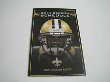 2014 NFL NEW ORLEANS SAINTS POCKET SCHEDULE***MERCEDES-BENZ***