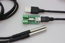 USB-Temperatur-Sensor-Tester für DS18B20 incl. Edelstahlsensoren wasserdicht