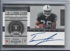 TAIWAN JONES 2011 PLAYOFF CONTENDERS ROOKIE TICKET ON CARD TRUE RC AUTO #210