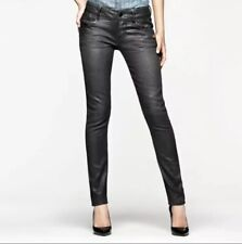 G Star Raw Women's Fender Skinny Black Jeans 25 X 30 Sateen Coated Denim