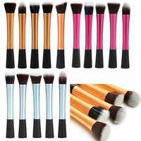 Pro Cosmetic Stipple Powder Blush Foundation Brush Makeup Eye Brushes Kits Hot