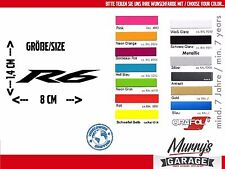 Yamaha R6 14x80mm Aufkleber, Sticker, Motorrad, Motorsport, Autocollat Étiquette