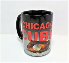 MLB Baseball Chicago Cubs 15oz. Coffee Mug - Black/Chrome