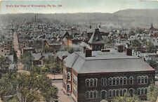 D68/ Wilkinsburg Pennsylvania Pa Postcard 1909 Birdseye View School Homes