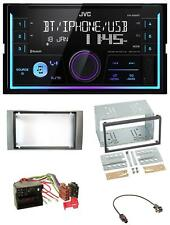 JVC AUX 2DIN USB MP3 Bluetooth Autoradio für Ford Fiesta Focus 2004-2008 silber
