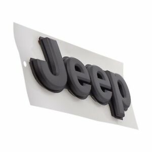 2017-2020 JEEP COMPASS NEW STYLE JEEP EMBLEM NAMEPLATE BADGE GRAY OEM NEW MOPAR