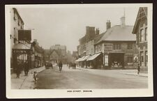 Rutland OAKHAM High St early RP PPC Crown Hotel Matkin stationer