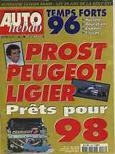 AUTO HEBDO n°1066 du 25 Décembre 1996 20ans VW GOLF BILAN RALLYE 1996