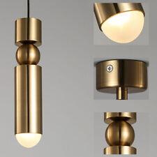 Modern Gold Cylinder Single Pendant Light Home Cafe Mini LED Ceiling Lights 110V