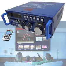 Bluetooth FM Stereo HiFi Amplificador Mini Amp USB SD MP3 Player DC 12V AC 220V