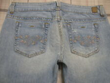 Guess Jean Capris 32 X 22 Low Rise Stretch jeans 14 crop c1 EMBROIDERED~!!