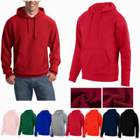 Mens Hooded Sweatshirt Hoodie Blank Pullover Cotton Plain Casual Sports Jumper