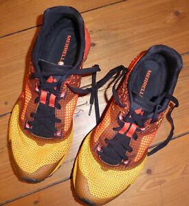 Merrell All Out Crush Traillaufschuhe UK 8,5 orange Traillaufschuhe Laufschuhe
