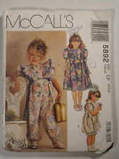 Mc-5892 Jumpsuit & Dress Sewing Pattern McCall's Girl Size 4-5-6