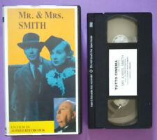 VHS FILM Ita Thriller MR.&MRS.SMITH hitchcock PROMO TUTTO CINEMA no dvd cd(V162)