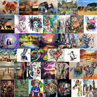 Digital Painting By Numbers Kit DIY Happy Animals Canvas Oil Art Picture Decor