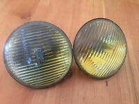"OE MERCEDES-BENZ W123 PAIR BOSCH 5.75"" AMBER FOG LIGHT 240D 300D 300TD 300CDRARE"