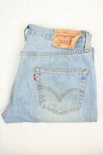 Mens Vintage LEVIS 501 Denim Jeans W34 L32 Regular Straight Leg Light Blue
