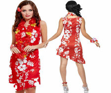 Hawaiian Beauty Ladies Fancy Dress Outfit Beach Party Hula Girl Outfit UK 12-14