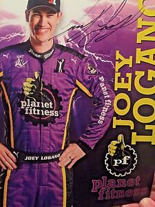 Joey Logano Signed Autograph Hero Card photo Planet Fitness 2016