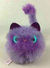 Pomsies Purple Cat Kitten Fluffy Plush Stuffed Toy Bendable Tail 2018 Talking
