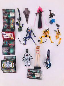 NEON GENESIS EVANGELION 6 mini-figures set  PVC 9cm Kaiyodo 2002
