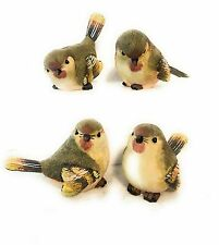 Set of small bird figurines, GREEN WARBLERS,   SET OF 4   BRAND NEW