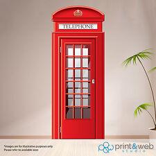 Londra Telefono Box Adesivo Muro Decalcomania Arte Murale Camera Da Letto LIFE SIZE