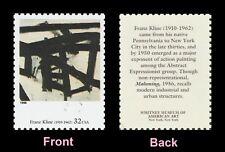US 3236s American Art Mahoning Franz Kline 32c single MNH 1998