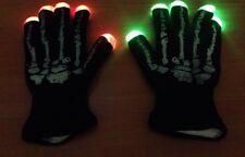 Black Knit Gloves LED Flashing Rave Party HALLOWEEN Skeleton Hand Gloves