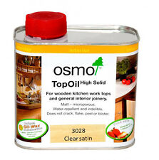 OSMO TOP OIL 3028 CLEAR SATIN | Kitchen Wooden Worktops | Internal Joinery 500ml