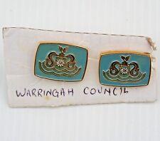 VINTAGE WARRINGAH SHIRE COUNCIL COAT OF ARMS CUFFLINKS NSW AUSTRALIA