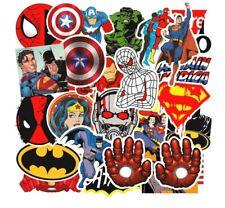 50 MARVEL/DC SUPERHERO STICKERS-RETRO CARTOON VINYL/PVC-PARTY/LAPTOP/SKATEBOARD