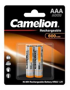 2x Camelion AAA Micro Telefon Akkus Accus 600mAh f. Telekom T-Sinus 10 212 PA102