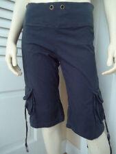 XCVI Pants XS Dark Gray Cotton spandex Cropped or Long Shorts Ribbed Knit Waist